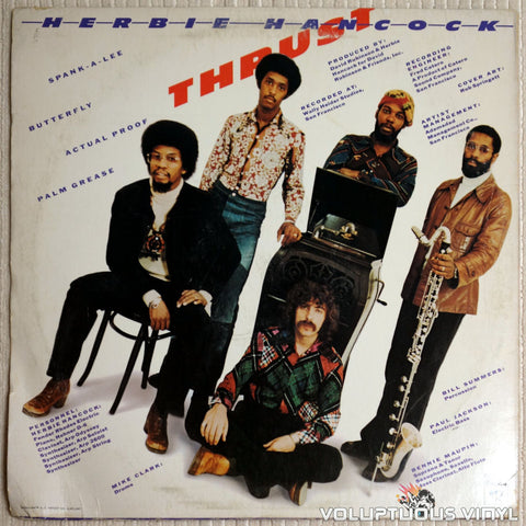 Herbie Hancock ‎– Thrust - Vinyl Record - Back Cover