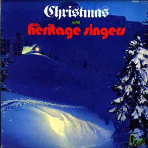The Heritage Singers ‎– Christmas With The Heritage Singers vinyl record front cover