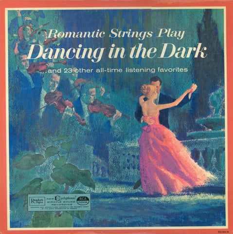 Hill Bowen And His Orchestra ‎– Romantic Strings Play Dancing In The Dark . . . And 23 Other All-Time Listening Favorites (1963) Cheap Vinyl Record