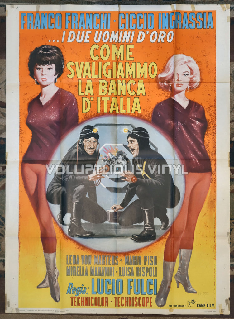 How We Robbed the Bank of Italy (1966) - Italian 2F Poster