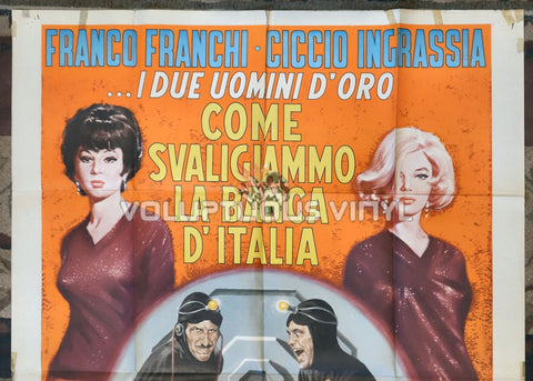 How We Robbed the Bank of Italy (1966) - Italian 2F Poster - Top Half