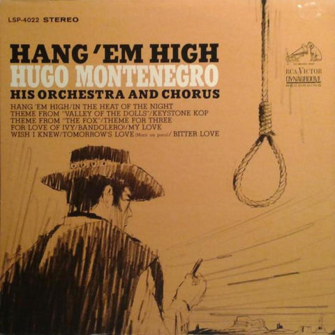Hugo Montenegro, His Orchestra And Chorus ‎– Hang 'Em High vinyl record front cover