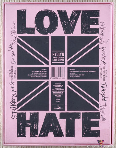 Hyolyn ‎– Love & Hate CD back cover