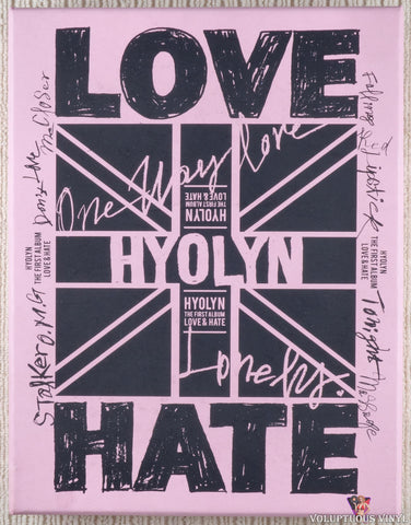 Hyolyn ‎– Love & Hate CD front cover