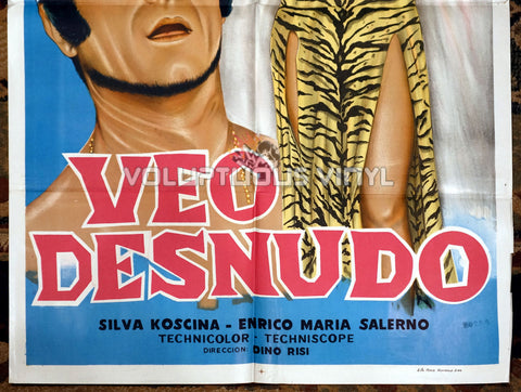 I See Naked [Veo desnudo] (1969) - Argentinean 1-Sheet - Sexy Sylva Koscina Tiger Print Dress bottom half