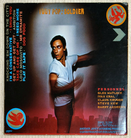 Iggy Pop Soldier Back Cover Vinyl Record