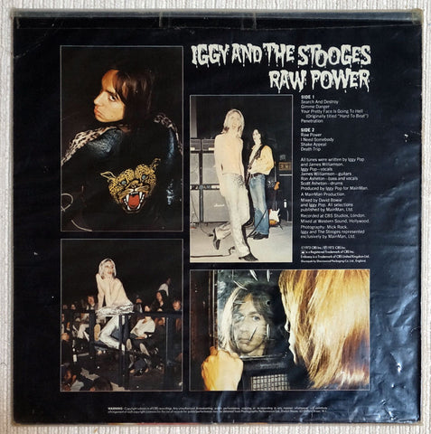 Iggy And The Stooges ‎Raw Power Back Cover Vinyl Record
