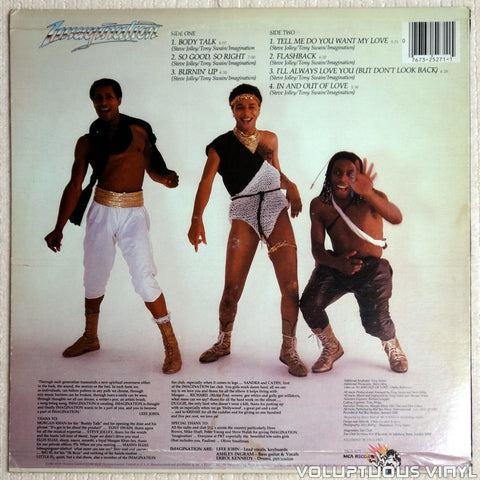 Imagination ‎– Body Talk - Vinyl Record - Back Cover