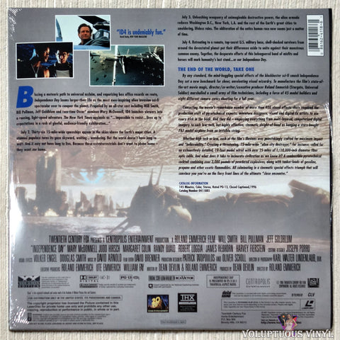 Independence Day: ID4 laserdisc back cover