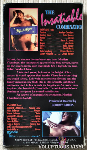 Insatiable And Insatiable II VHS back cover
