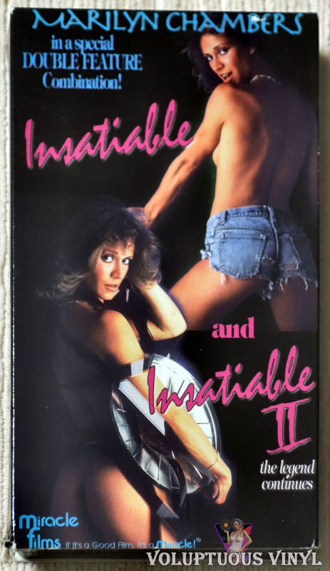 Insatiable And Insatiable II VHS front cover