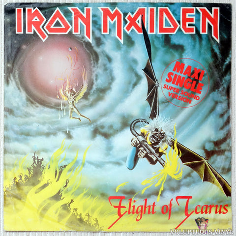 "Iron Maiden ‎– Flight Of Icarus (1983) 12"" Single, German Press"