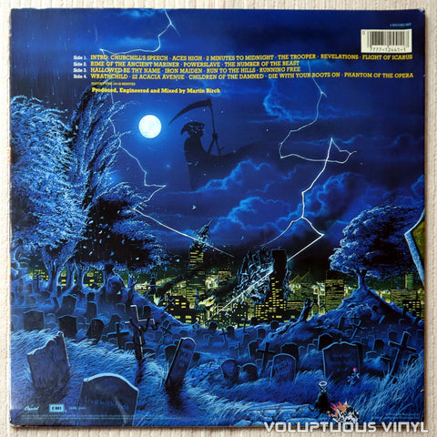 Iron Maiden ‎– Live After Death - Vinyl Record - Back Cover