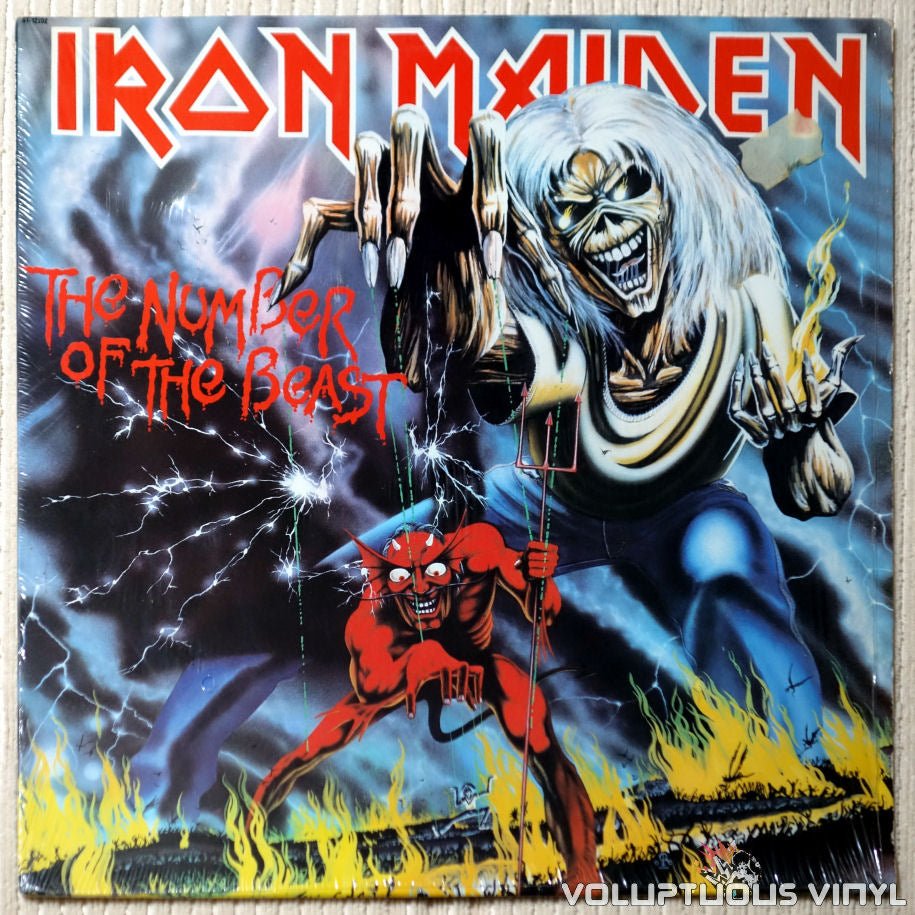 Iron Maiden ‎– The Number Of The Beast - Vinyl Record - Front Cover
