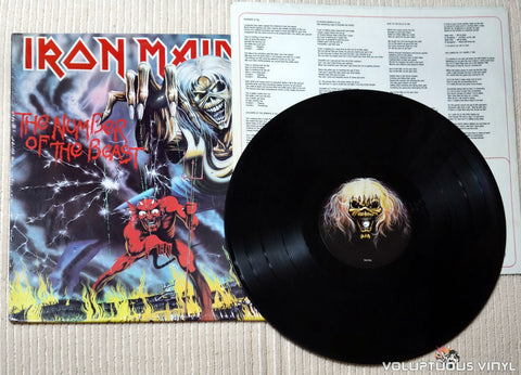 Iron Maiden ‎– The Number Of The Beast - Vinyl Record