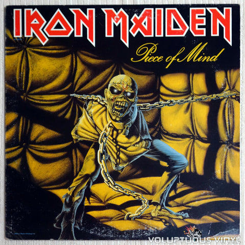 Iron Maiden ‎– Piece Of Mind - Vinyl Record - Front Cover