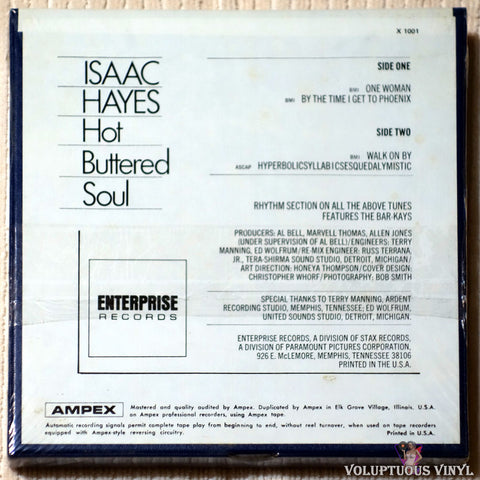 Isaac Hayes ‎– Hot Buttered Soul reel to reel back cover