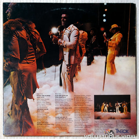 The Isley Brothers ‎– The Heat Is On vinyl record back cover