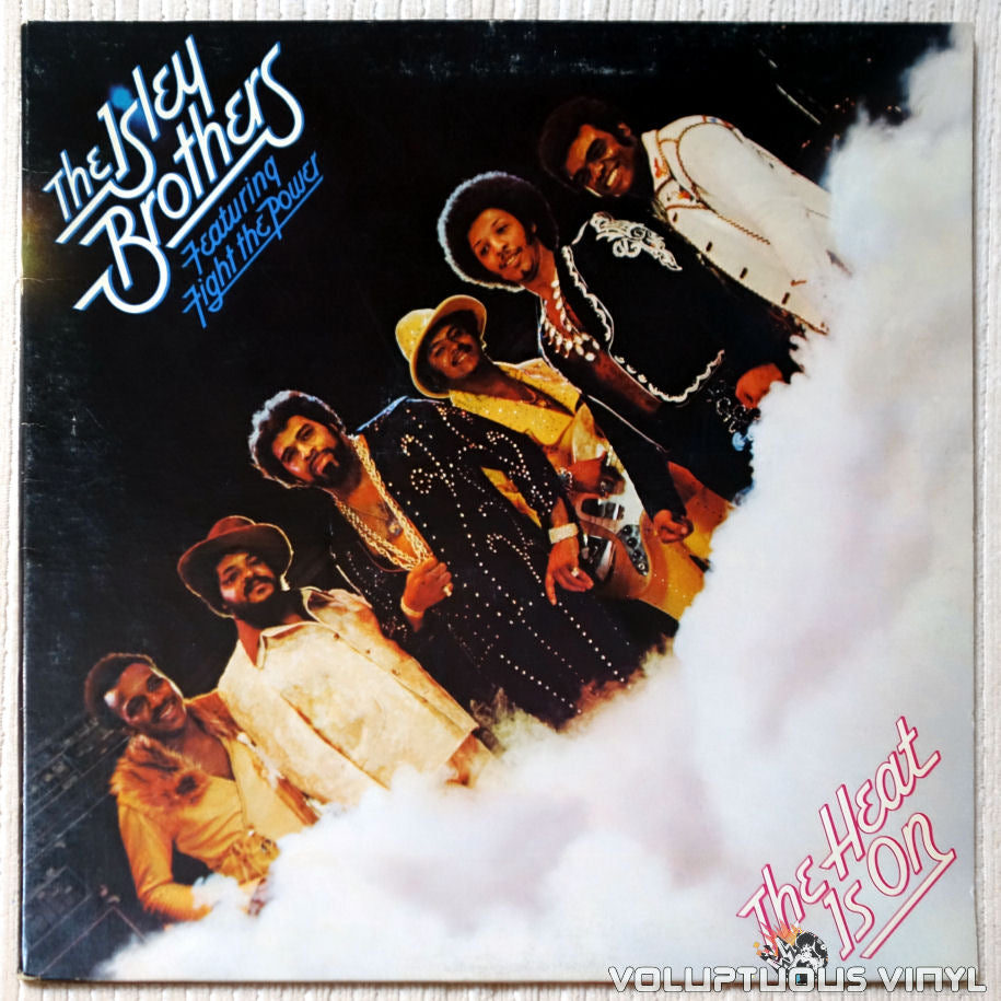 The Isley Brothers ‎– The Heat Is On vinyl record front cover