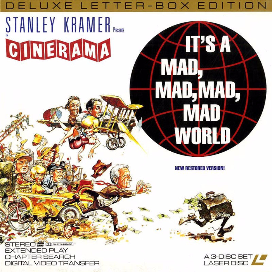 It's a Mad, Mad, Mad, Mad World - LaserDisc - Front Cover