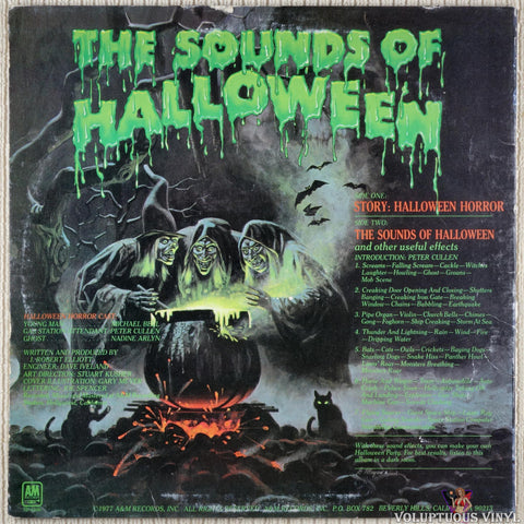 J. Robert Elliot ‎– Halloween Horrors: The Sounds Of Halloween (And Other Useful Effects) vinyl record back cover