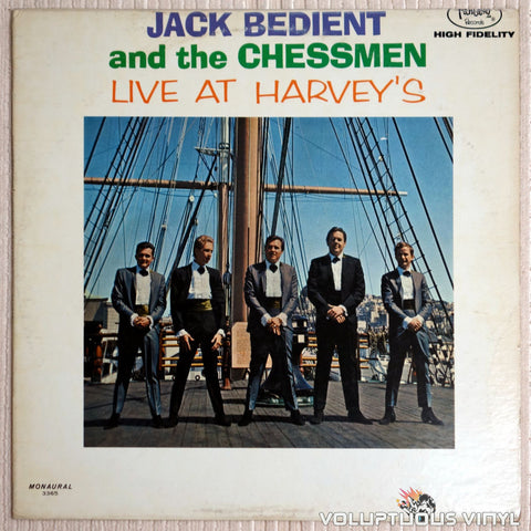 Jack Bedient And The Chessmen ‎– Live At Havey's - Vinyl Record - Front Cover