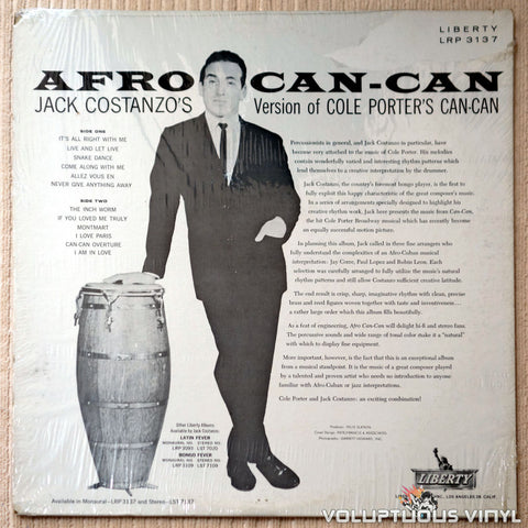 Jack Costanzo ‎– Afro Can-Can - Vinyl Record - Back Cover
