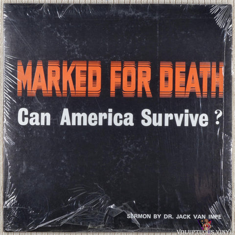 Jack Van Impe ‎– Marked For Death: Can America Survive? vinyl record front cover