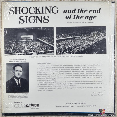 Jack Van Impe ‎– Shocking Signs And The End Of The Age vinyl record back cover