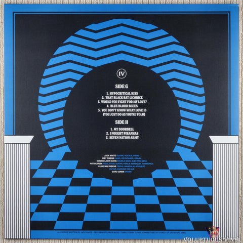 Jack White ‎– Live At The Masonic Temple album IV vinyl record back cover