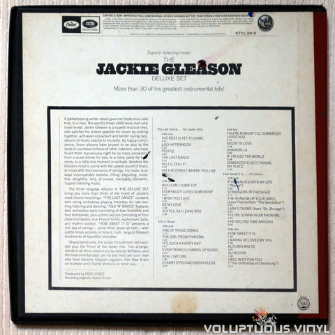 Jackie Gleason ‎– The Jackie Gleason Deluxe Set vinyl record back cover