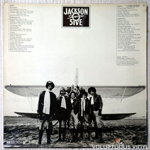 The Jackson 5 - Skywriter - Vinyl Record - Back Cover