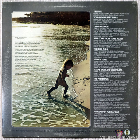 Jackson Browne ‎– The Pretender vinyl record back cover