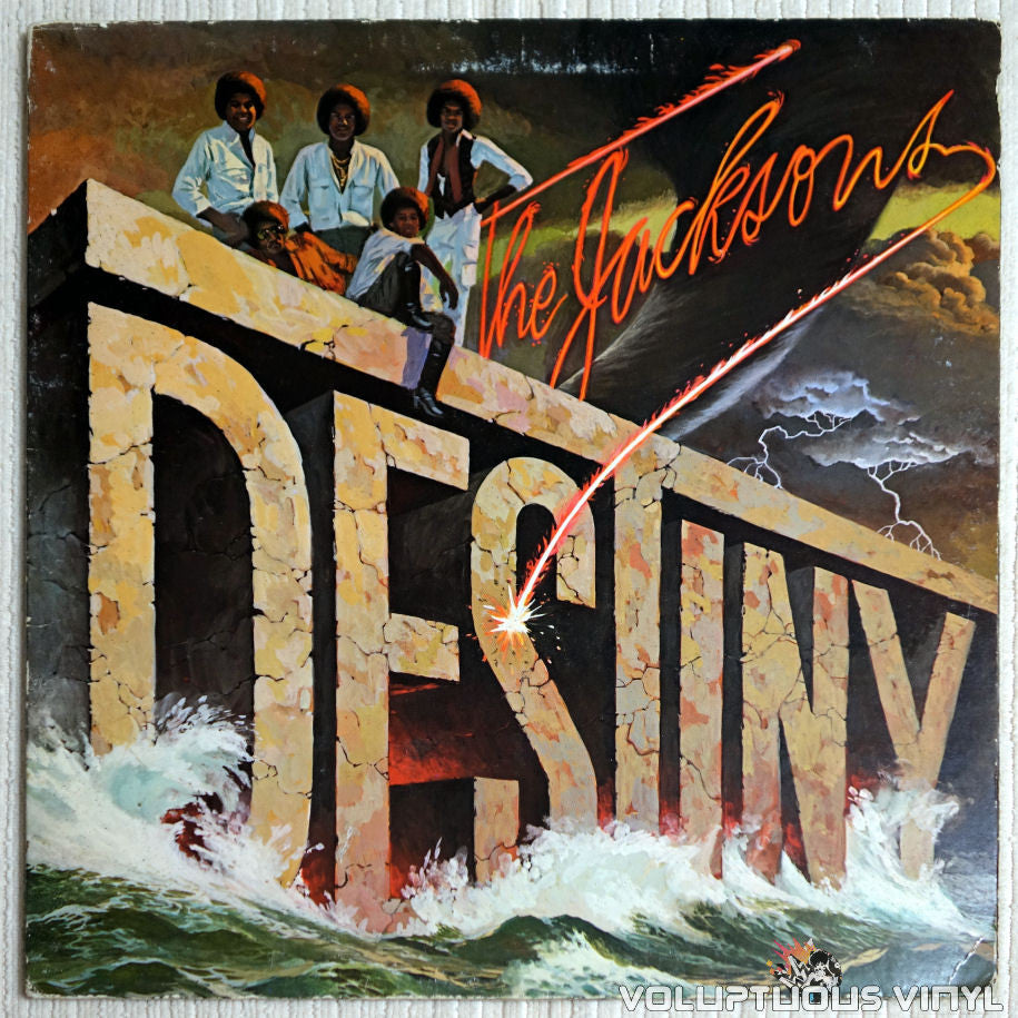 The Jacksons ‎– Destiny - Vinyl Record - Front Cover