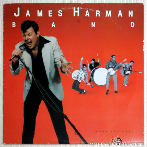 The James Harman Band ‎– Thank You Baby - Vinyl Record - Front Cover