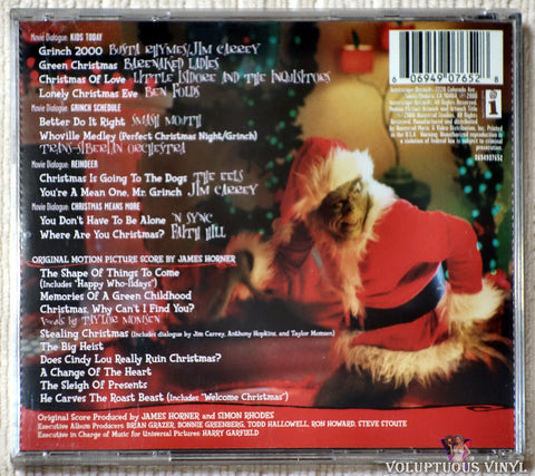 James Horner ‎– Dr. Seuss' How The Grinch Stole Christmas CD back cover