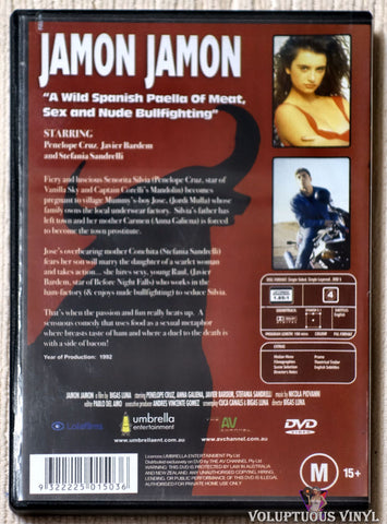 Jamon Jamon DVD back cover