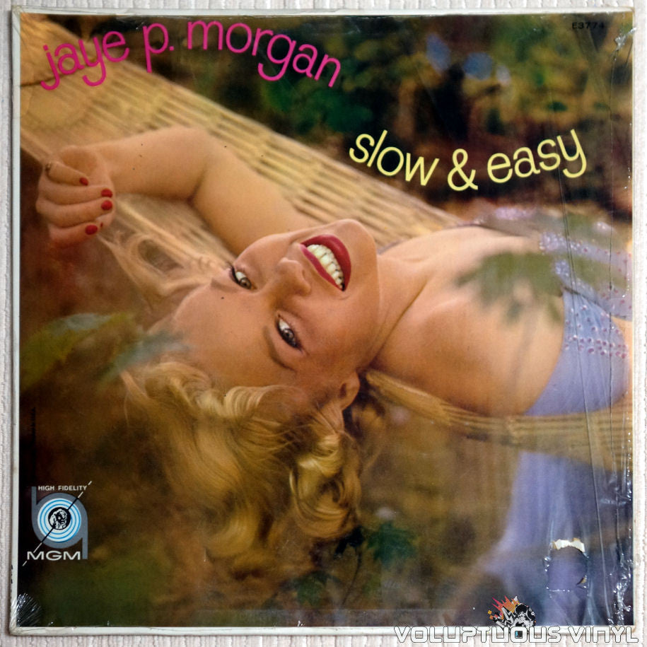 Jaye P. Morgan ‎– Slow And Easy - Vinyl Record - Front Cover