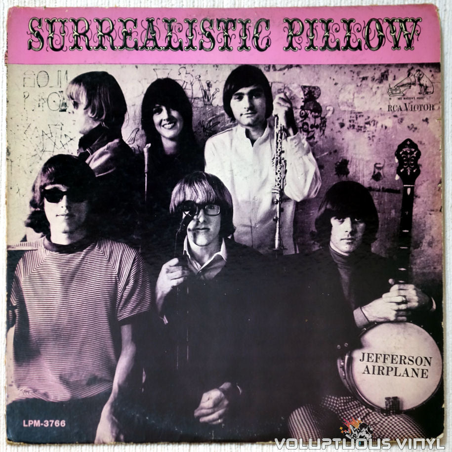 Jefferson Airplane ‎– Surrealistic Pillow vinyl record front cover