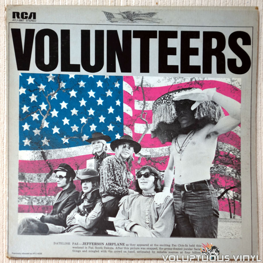 Jefferson Airplane ‎– Volunteers vinyl record front cover