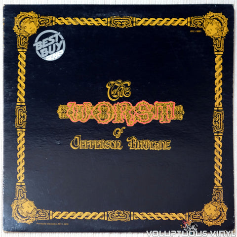 Jefferson Airplane ‎– The Worst Of Jefferson Airplane vinyl record front cover