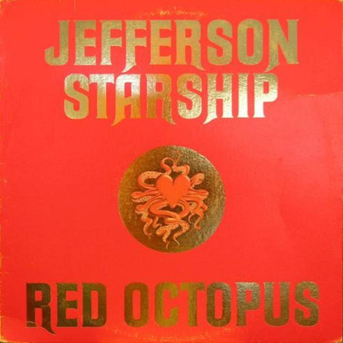 Jefferson Starship ‎– Red Octopus vinyl record front cover