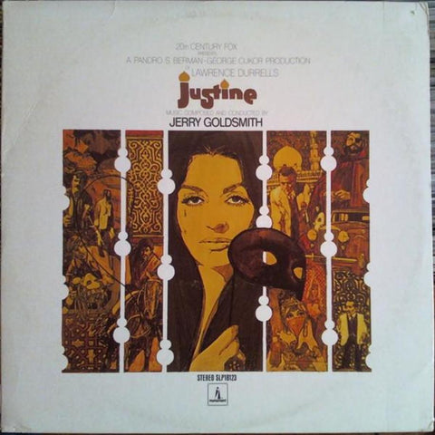 Jerry Goldsmith ‎– Justine vinyl record front cover