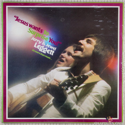 Jerry & Jewel Leggett ‎– Jesus Wants To Surprise You vinyl record front cover
