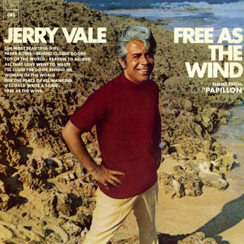 "Jerry Vale ‎– Free As The Wind (Theme From ""Papillon"") vinyl record front cover"