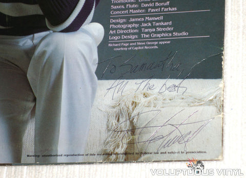 Jim Schmidt ‎– Somethin' Right - Vinyl Record - Autograph