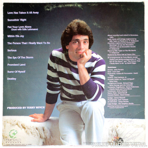 Jim Schmidt ‎– Somethin' Right - Vinyl Record - Back Cover