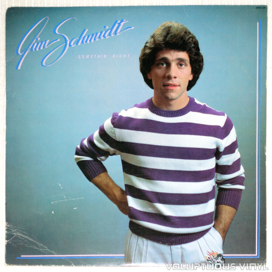 Jim Schmidt ‎– Somethin' Right - Vinyl Record - Front Cover