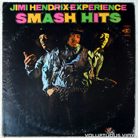 The Jimi Hendrix Experience ‎– Smash Hits vinyl record front cover