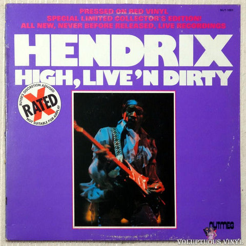Jimi Hendrix ‎– High, Live'n Dirty vinyl record front cover